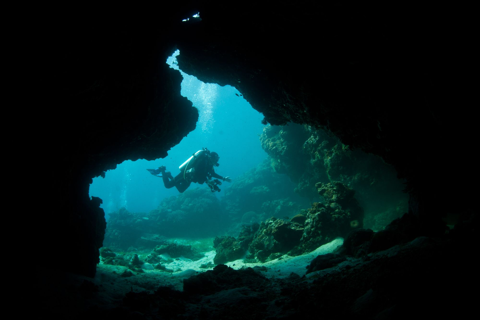 Scuba Diving In Marigondon Cave, Philippines