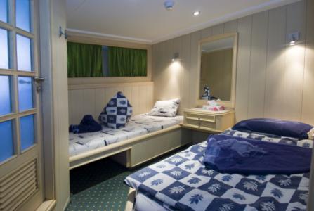 Standard Twin Berth Cabin (bunk-style)