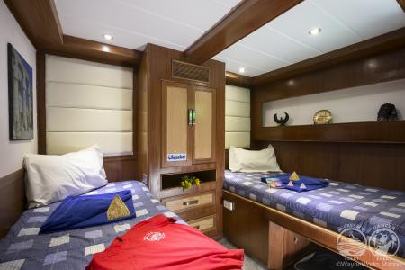 Deluxe Staterooms (# 1, 2, 3, 4, 5, 6, 7)