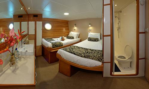 Stateroom with Converted Beds