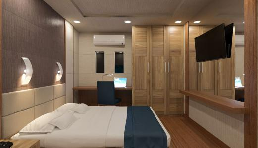 Double with Single Bed Cabin m